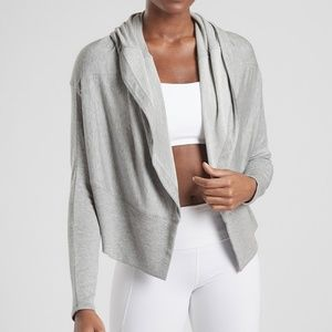 Athleta Nirvana Wear Two Ways Wrap Cardigan Top